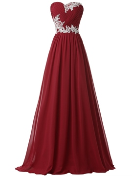 Ericdress Floor-Length Sweetheart Pleats A-Line Celebrity Dress Evening Dress