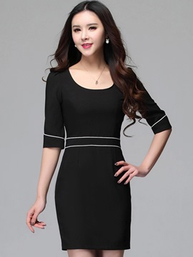 Ericdress Half Sleeve Round Neck Casual Dress
