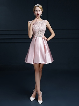 Ericdress a-ligne de dentelle Bowknot court Homecoming robe