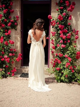 Ericdress A Line Empire Backless Beach Wedding Dress