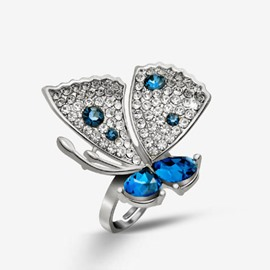 Vogue Butterfly Shaped Female Ring
