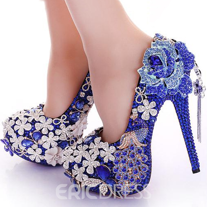 Ericdress Bohemian Luxurious Rhinestone&Tassels Prom Shoes