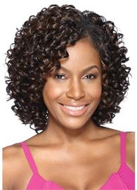 Ericdress Synthetic Kinky Curly Middle Length Lace Front Women Wigs 12 Inches