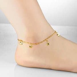Delicate Little Bells Decorated Trendy Anklet