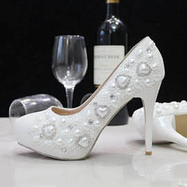 Ericdress Handmade Pearl Wedding Shoes