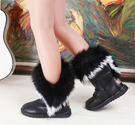Ericdress Cute Warm Snow Flat Boots