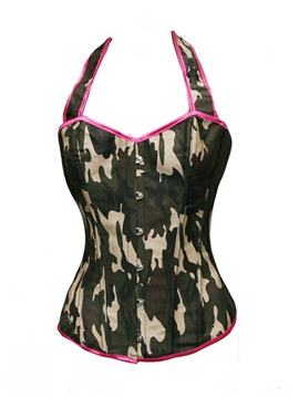 Ericdress Camouflage Printed Strap Slim Corset