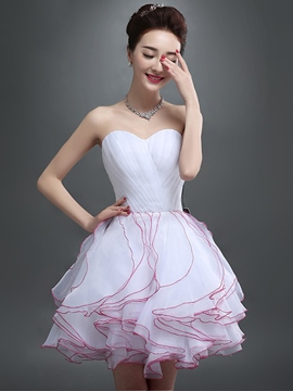 Ericdress A-Line Sweetheart Ruched Short Homecoming Dress