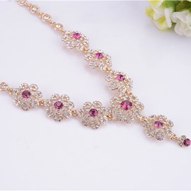 Delicate Ruby Decorated Necklace