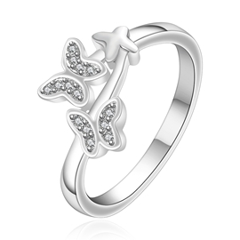 Lively Butterfly Decorated Ring