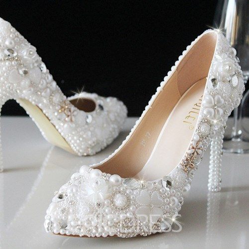 Ericdress New Rhinestone&Pearl Wedding Shoes