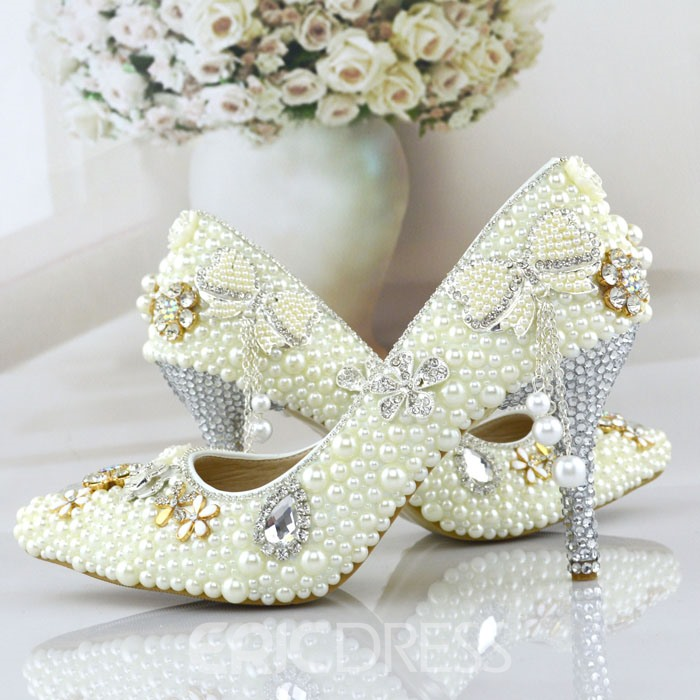 Ericdress Chic Pearl Wedding Shoes