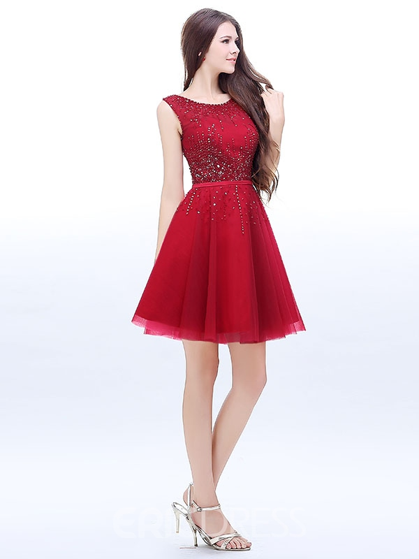 Ericdress A-Line Scoop Sequins Short Homecoming Dress