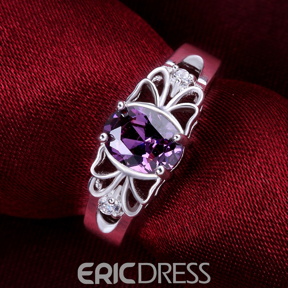 Delicate Amethyst Ultra Violet Decorated Ring