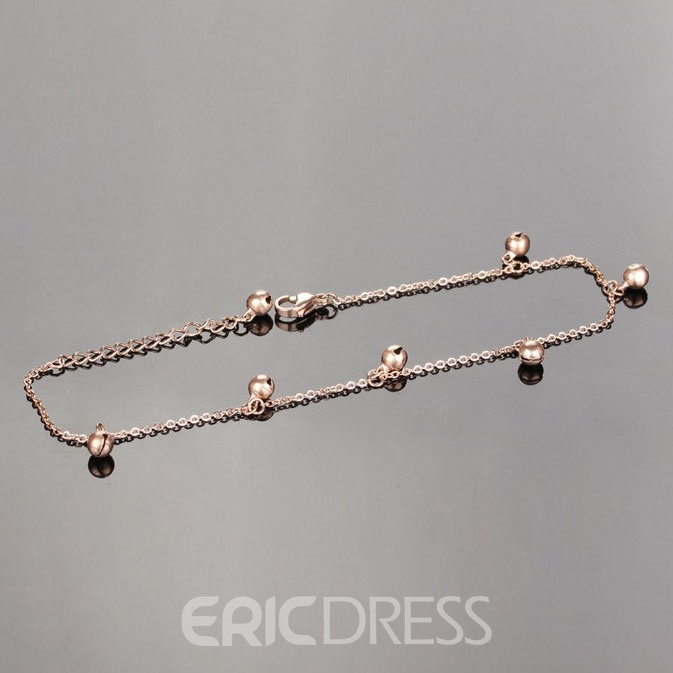 Cute Golden Bells Decorated Anklet
