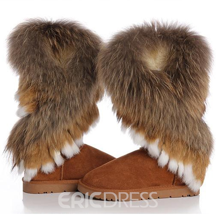 Ericdress Hot Selling Furry Flat Boots
