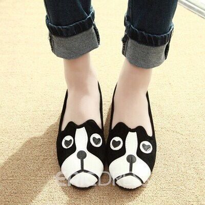 Ericdress Cute Cartooon Dog Flats