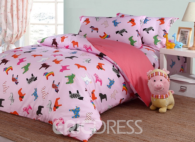 Vivilinen Cartoon Pony Print Princess 4-Piece Duvet Covers/Bedding Sets