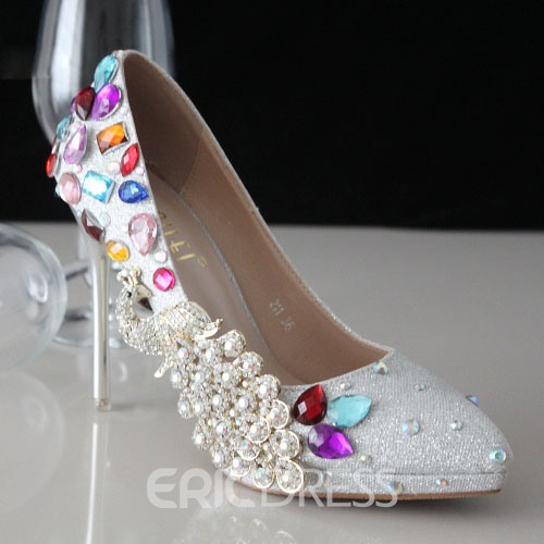 Ericdress Sliver Phoenix Pointed-toe Wedding Shoes