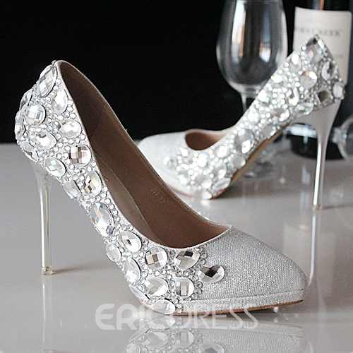 Ericdress Pointed-toe Crystal Wedding Shoes