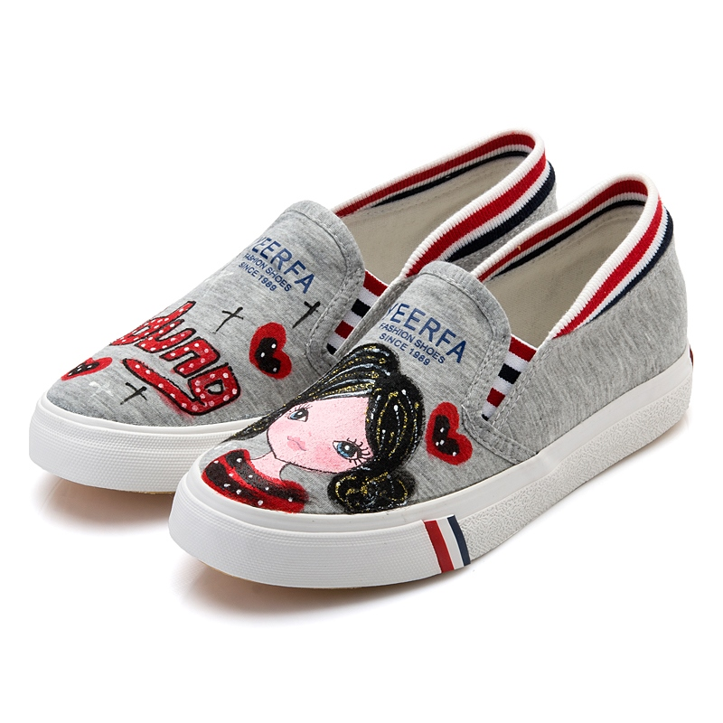 Ericdress dessin animé mignon Slip-On Canvas Flats