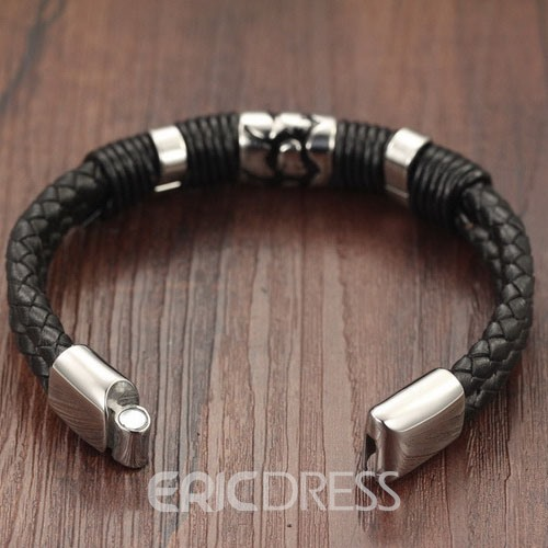 Pattern Decorated Woven Men's Bracelet