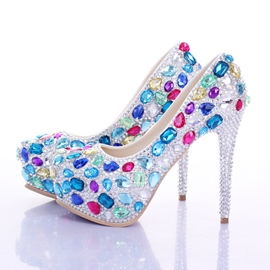 Ericdress Colorful Rhinestone Wedding Shoes
