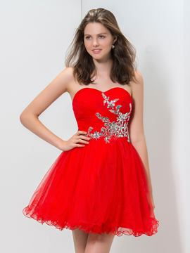 Ericdress A-Line Sweetheart Beaded Short Homecoming Dress