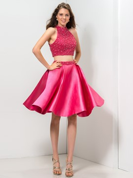 Ericdress Halter a-ligne Ruffles Dress Homecoming court