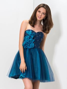 Ericdress Sweetheart Appliques Lace Short Homecoming Dress