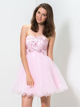 Ericdress A-Line Sweetheart Sequins Short Homecoming Dress