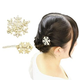 Elegant Snowflake Shaped Hair Jewelry