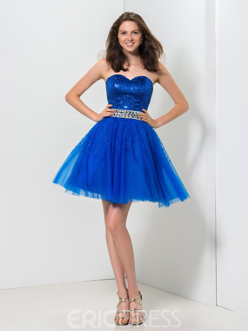 Ericdress A-Line Sweetheart Beaded Sequins Short Homecoming Dress