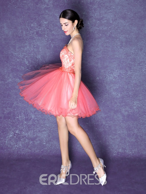 Ericdress A-Line Sweetheart Lace Homecoming Dress