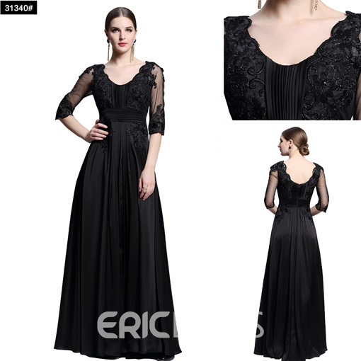 Ericdress A-Line Half Sleeve Appliques Homecoming Dress