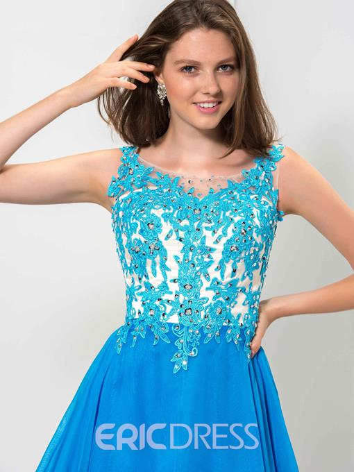 Ericdress Scoop Appliques Sequins Short Homecoming Dress