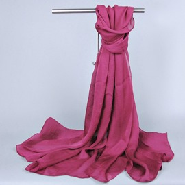 Beautiful Pure Color Silk Ultra Violet Scarf