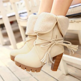 Ericdress Popular Bowtie Chunky Heel Ankle Boots