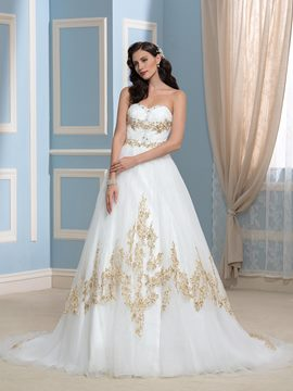 Ericdress Charming A Line Sweetheart Appliques Wedding Dress