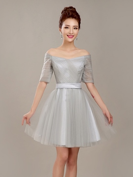 Ericdress Concise A-Line Off-The-Shoulder Cocktail Dress