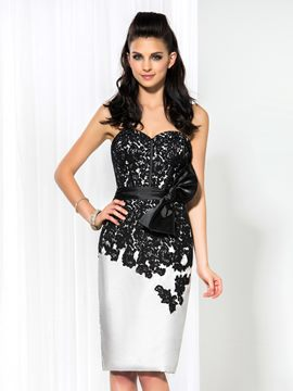 Ericdress Sweetheart dentelle Bowknot gaine robe de Cocktail
