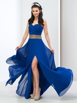 Ericdress Sweetheart Beaded Front-Split Long Prom Dress