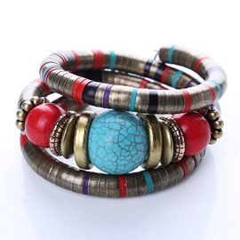 Ericdress Turquoise Decorated Ethnic Bracelet