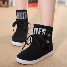 Ericdress Casual Lace-up Ankle Boots