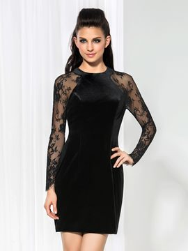 Robe de Cocktail courte dentelle Ericdress gaine