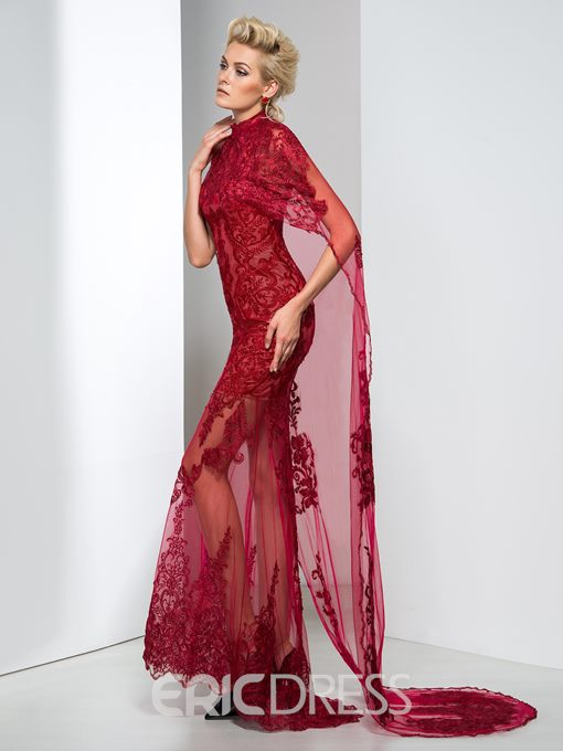 Ericdress Sheath Lace Evening Dress With Shawl
