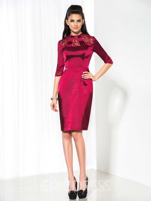 Ericdress Sheath Appliques Short Cocktail Dress