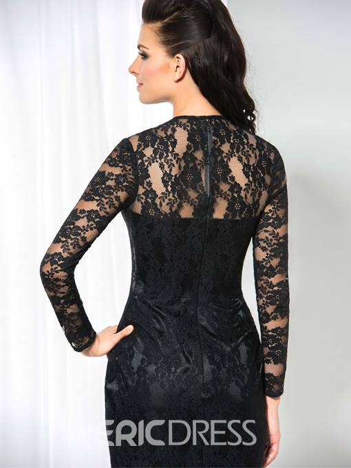 Ericdress Long Sleeves Lace Sheath Cocktail Dress