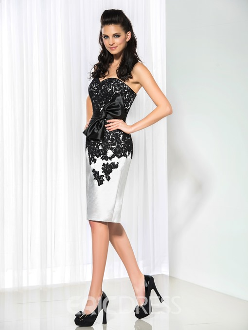 Ericdress Sweetheart Lace Bowknot Sheath Cocktail Dress