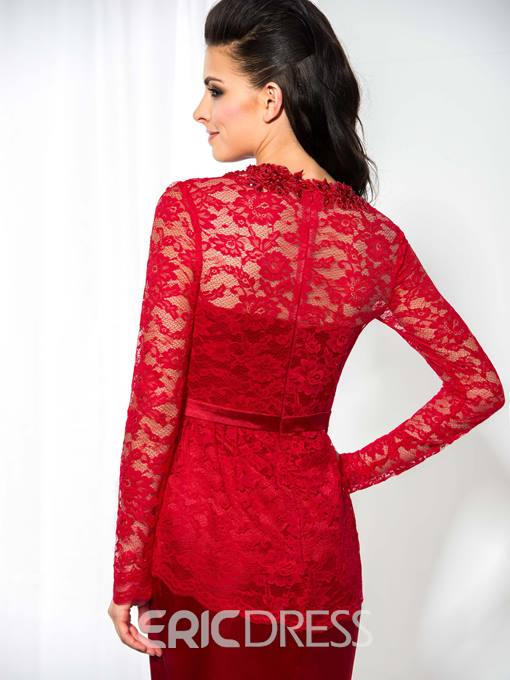 Ericdress Long Sleeve Lace Short Cocktail Dress
